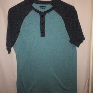 Levis Grey and Blue Color Block Tee